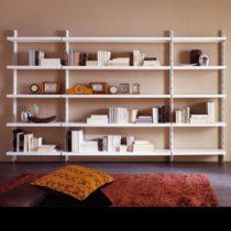 libreria in metallo,libreria a parete,scaffale biblioteca,caimi