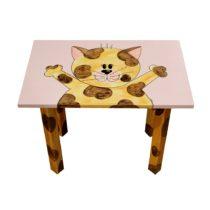 tavolino gattino regalo ideale per i bimbi, banco scuola in legno, banchetto per bambino, creazioni dettagli cagliari, banchetto scuola, tavolino scuola